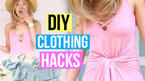Diy Clothing Life Hacks You Must Know! Youtube