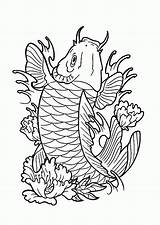 Fish Coloring Koi Pages Saltwater Drawing Realistic Angel Popular Getdrawings Coloringhome sketch template