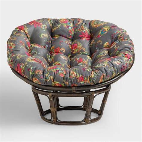 antigua micro suede papasan chair cushion world market