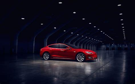 Tesla Car Wallpaper by Wallpaper Tesla Model S Electric Car Side View