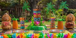 luau decorations party city