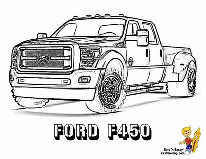 Truck Coloring Ford Sheet F450 Super Pickup