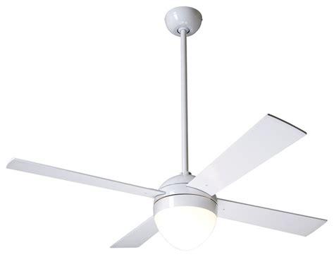 Modern White Ceiling Fans by 42 Quot Modern Fan Gloss White Ball Light Kit Ceiling Fan