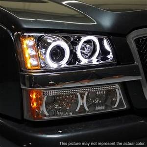 2004 Chevy Avalanche Lights Chevy Avalanche 2003 2005 Clear Halo Projector Headlights