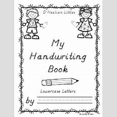 D'nealian Handwriting Bundle (lowercase And Uppercase  Two Full Practice Books