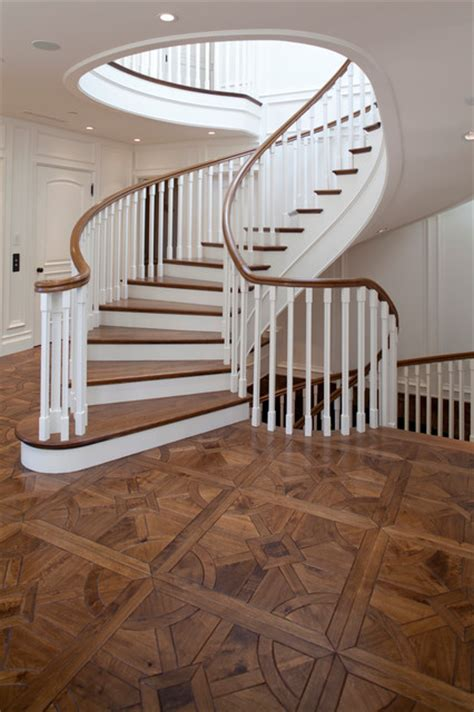 parquet traditional staircase orange county by gaetano hardwood floors inc