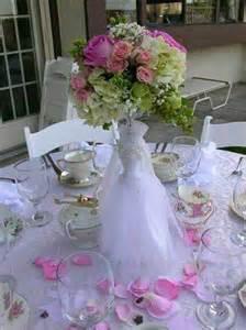 Wedding Dress Bridal Shower Centerpiece Ideas