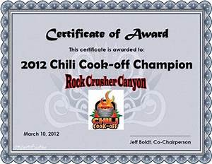 8 best images of chili cook off award certificates chili With chili cook off award certificate template