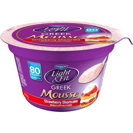 dannon light and fit yogurt dannon light fit strawberry shortcake yogurt