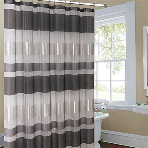 silver shower curtain metallic striped silver fabric shower curtain bed bath