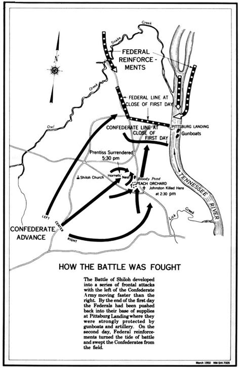 shiloh tennessee battle result confederate map