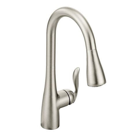 moen 7594srs arbor kitchen faucet with pulldown spray spot resist st plumbing canada