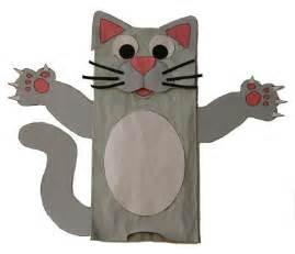 cat puppet paper bag cat puppet