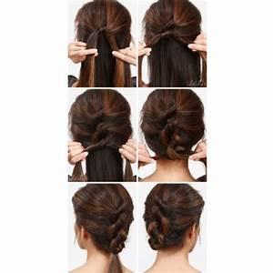 Chignon Cheveux Mi Long : tuto coiffures cheveux mi longs ~ Melissatoandfro.com Idées de Décoration