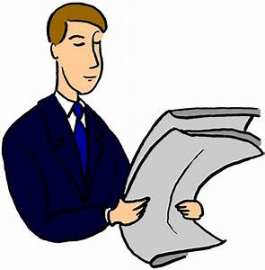 Reading Newspaper Clipart Clipart Panda  Free Clipart Images