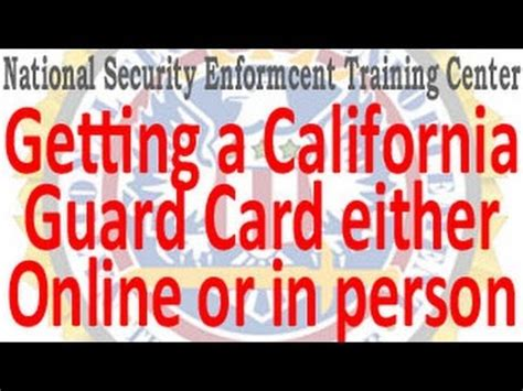 california bureau of security and investigative services ca security guard card or in person bureau of security investigative services