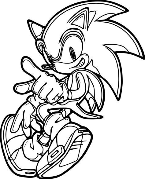 Sonic The Hedgehog Dance Coloring Page Wecoloringpagecom
