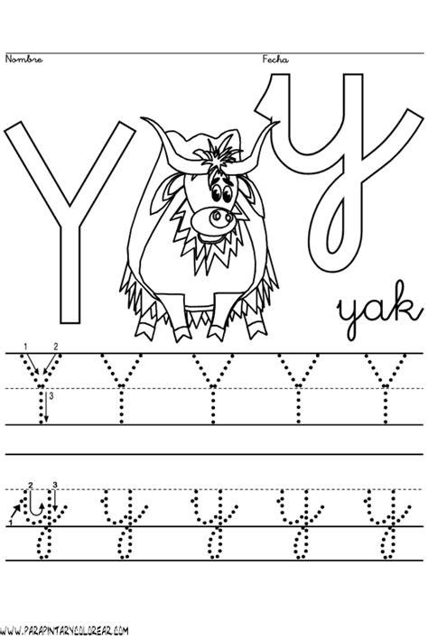 abecedario para pintar letra y 1