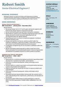 Power System Engineer Resume Senior Electrical Engineer Resume Samples Qwikresume