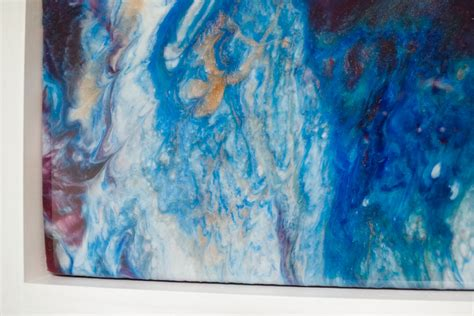 diy colorful poured resin wall art resin crafts