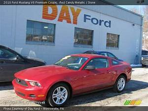 Red Candy Metallic - 2010 Ford Mustang V6 Premium Coupe - Stone Interior | GTCarLot.com ...