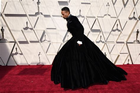 Photos Actor Billy Porter Wears Tuxedo Dress The Oscars