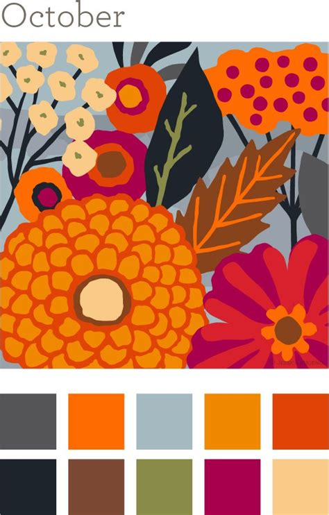 october color october color palette autumn anthology color palettes