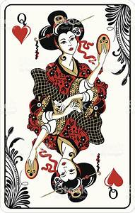 Queen Of Hearts Playing Card Stock Vector Art & More ...