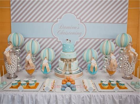 boy s christening ideas baptism decorations