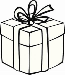 gift box clipart black and white   Clipart Station