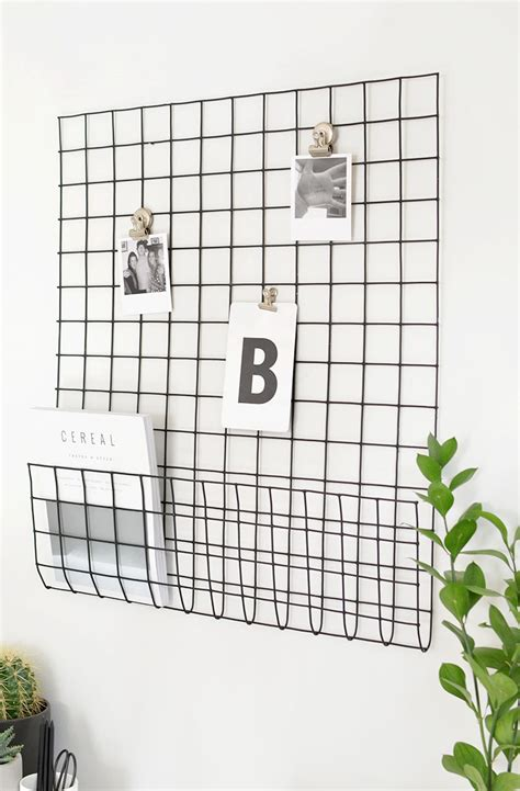 wall grid organizer diy storage grid burkatron 3311