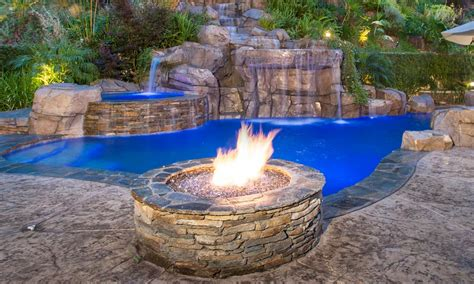 gas fireplace river rocks greecian pools bakersfield ca features