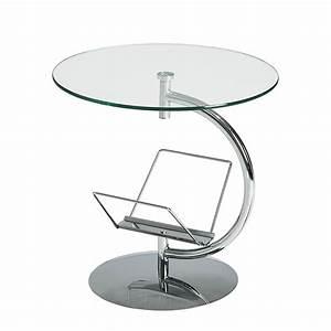 Beistelltisch Rund Glas : couchtisch beistelltisch rund glas metall 50cm zeitungsst nder tisch neu ebay ~ Indierocktalk.com Haus und Dekorationen
