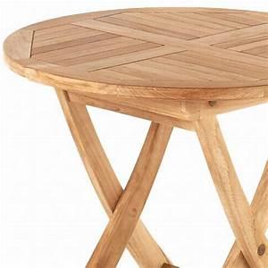 Gartentisch klapptisch 60cm rund kinder tisch teak for Teak tisch rund