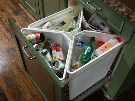 kitchen cabinet recycling center 4 bin recycling center traditional kitchen other