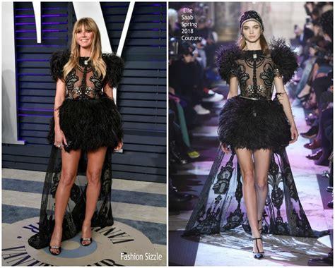 Heidi Klum Elie Saab Vanity Fair Oscar Party
