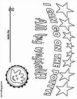 Coloring Potty Chart Fingers Lil Print sketch template