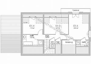plan maison etage 3 chambres gratuit 5 plans de maisons With plan maison etage 3 chambres gratuit