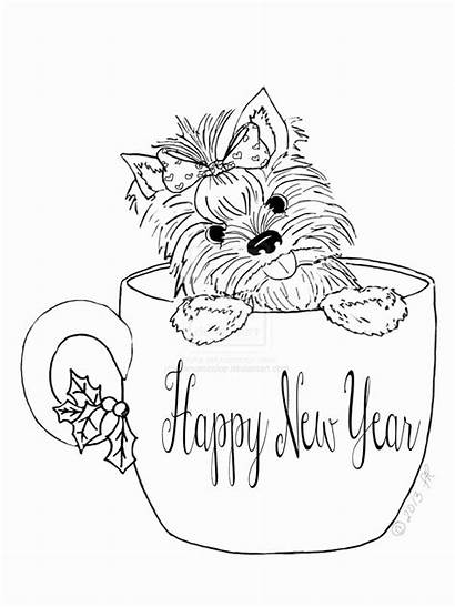 Coloring Cup Tea Teacup Puppy Dog Adult