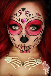 sugar skull makeup with no white face paint---this would ...