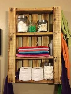 Etagere En Bois Salle De Bain : tag re palette 49 id es et un tutoriel pour la fabriquer ~ Preciouscoupons.com Idées de Décoration