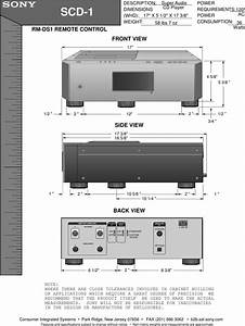 Sony Scd 1 User Manual Dimensions Diagram Scd1diagram