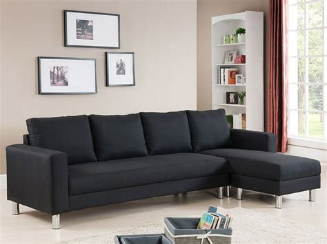 canapé noir tissu canapé d 39 angle tissu réversible 5 places quot vigo quot noir 68228