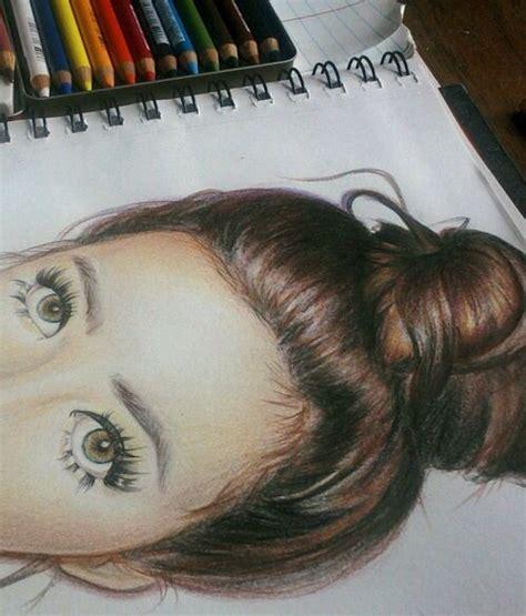 girl drawing hair eyes artsy pinterest beautiful