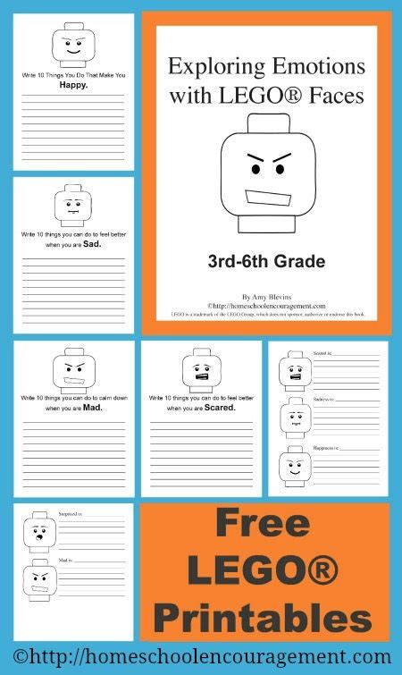 free exploring emotions with lego faces homeschool giveaways