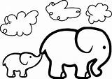 Elephant Drawing Coloring Pages Shower Getdrawings sketch template
