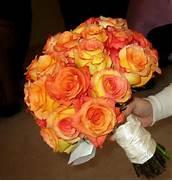 Bouquet Bridal  Orange...