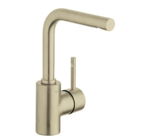 Grohe Essence Bathroom Faucet Brushed Nickel by Faucet 124062 In Warm Brushed Nickel By Grohe