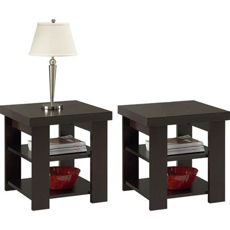 walmart larkin sofa table larkin espresso end tables value bundle walmart