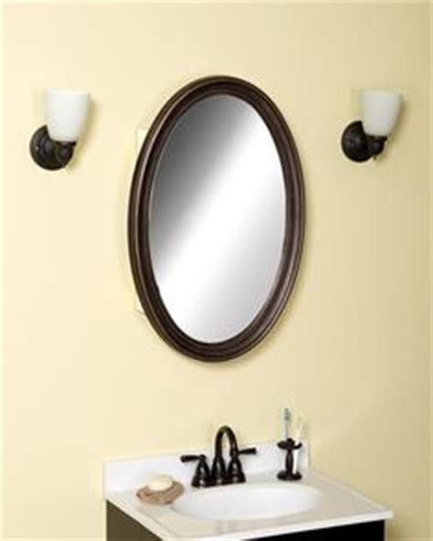 rubbed bronze bathroom mirrors walmart rubbed bronze oval medicine cabinet at menards for